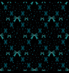 cute abstract bow tie seamless pattern background vector image