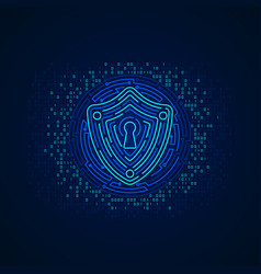 cyber shield vector image
