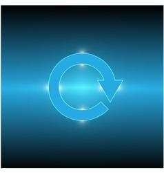Cycle arrow light vector