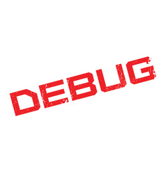Debug rubber stamp vector