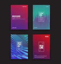 Different brochures design templates vector