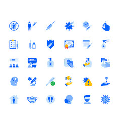 disease prevention and healthcare icons set vector image