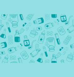 Drug icons pattern vector