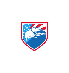 Eagle falcon shield for american logo design vector