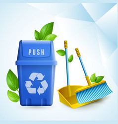 eco cleaning design concept vector image