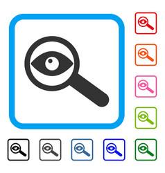 Examine eye framed icon vector