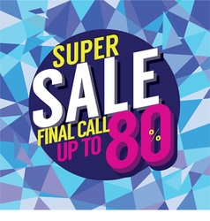 Final Sale Final Call vector image