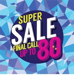 Final Sale Final Call vector