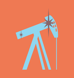 Flat icon on theme arabic business oil derrick vector