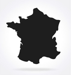 France map simplified silhouette vector