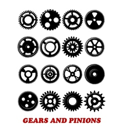 Gears and pinions set vector image