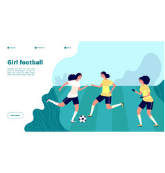 girl football women professional playing soccer vector image