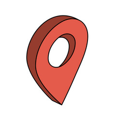 gps location pin icon image vector image