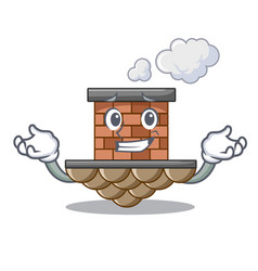 Grinning brick chimney isolated in character vector