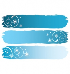 Grunge winter banners vector