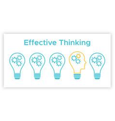 head profile lightbulb creative idea concept vector image