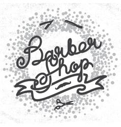 Hipster Barber Shop Lettering vector