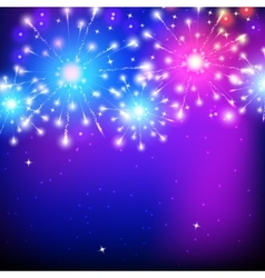 holiday firework colorful vector image