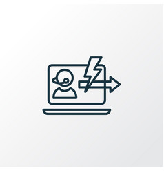 Immediate response icon line symbol premium vector