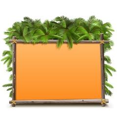 Jungle Frame vector image