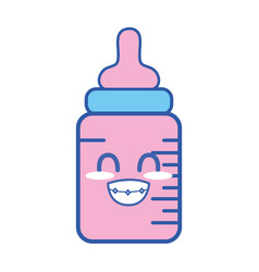 Kawaii cute funny feeding bottle vector