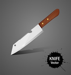 Kitchen knife vector image