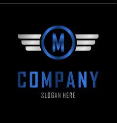 letter m automotive creative business logo vector image