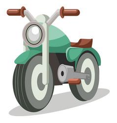 Light green bike vestor on white background vector