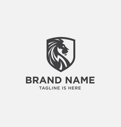 Lion shield logo vector