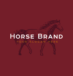 logotype horse vector image