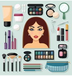 Make-up Icons Flat vector