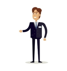 Man Character in Flat Design vector