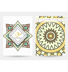 Mandala template A set of simple patterns with a vector image