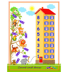 Math education for children on addition vector
