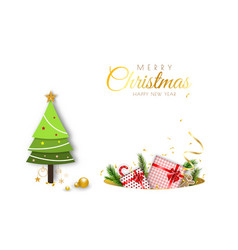 merry christmas minimal decorative design vector image
