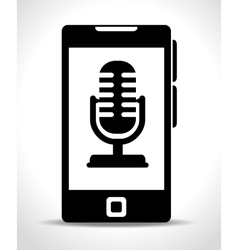 microphone services design vector image