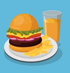 Nutritive food menu icon vector