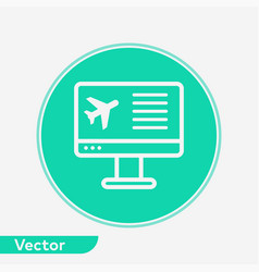 online flight booking icon sign symbol vector image