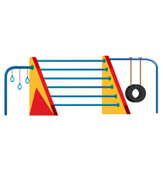 outdoor playground horizontal bar set vector image