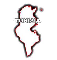 Outline map of tunisia vector