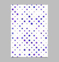 Pentagram pattern flyer design - cover background vector