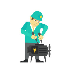 person mechanic repair business man man adjusts vector image