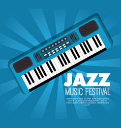 piano musical instrument label vector image