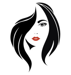 Portrait a girl head a beautiful girl face vector