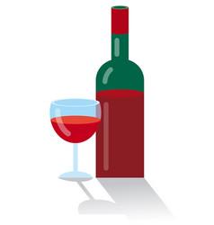 red bottle wine vector image