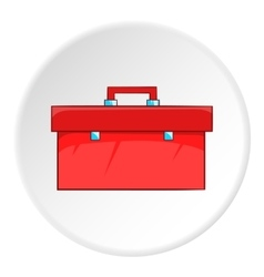 Red case plumber icon cartoon style vector