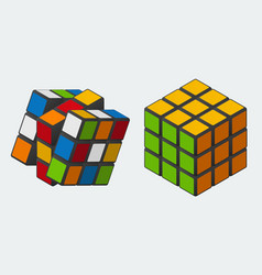 rubik39s cube 3x3 toy puzzle vector image