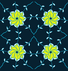 Seamless with yellow leaves pattern vector