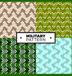 set geometric arrow camouflage patterns vector image