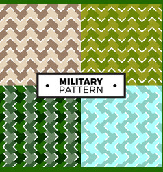 set of geometric arrow camouflage patterns vector image
